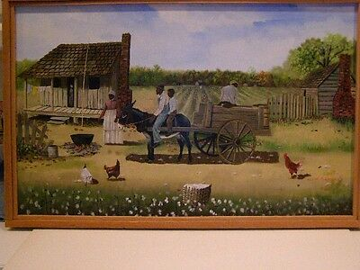 Oil On Canvas W. Earl Robinson Listed Artist (1950 - Clarksdale, Miss)