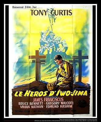 The Outsider Tony Curtis 4x6 Ft  French Grande Movie Poster Original 1961