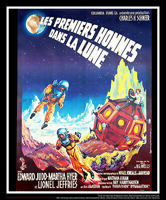 First Men In The Moon On Linen 4x6 Ft French Grande Original Movie Poster 1964