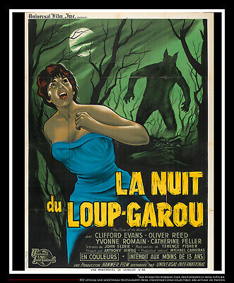 The Curse Of Werewolf On Linen 4x6 Ft French Grande Movie Poster Original 1961