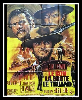 the good the bad the ugly 4x6 ft french grande movie poster original 1966