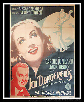 To Be Or Not To Be On Linen 4x6 Ft  French Grande Movie Poster Original 1942