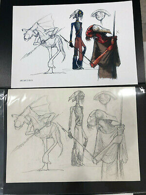 Star Wars Jake Lunt Davies Concept Production Art The Force Awakens Rare Sketch