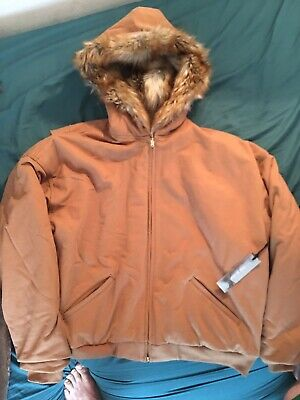 Fear Of God Sixth Collection Heavy French Terry Full Zip Hooded Jacket Rust Xl