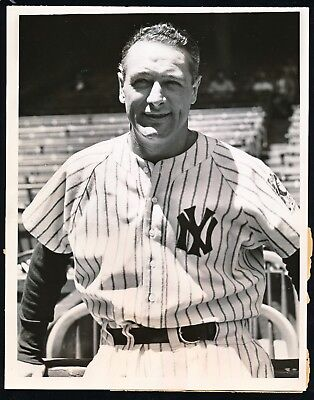 Lou Gehrig Yankee Stadium Photo Taken The Day He Retired In 1939 Psa/dna Type 1