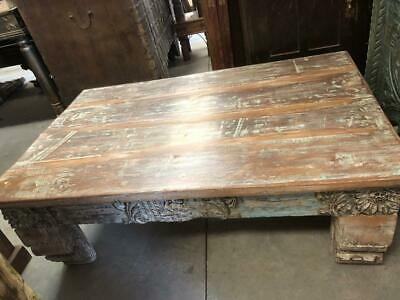 Antique Chai Table, Boho Coffee Table, Rustic Table, Accent Furniture, Vintage