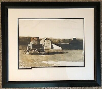 Andrew Wyath, Cider Barrel, Signed Limited Edition
