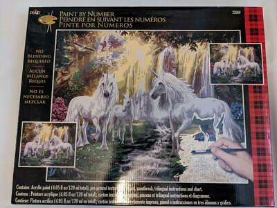 Plaid Paint By Numbers 22060 - Glade Unicorns .50.8 X 40.6cm (20 X 16 In) Nos