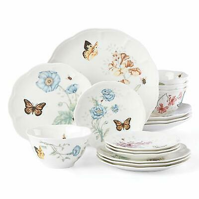 New Lenox Butterfly Meadow 16-piece Dinnerware Set~classic~service For 4 $299