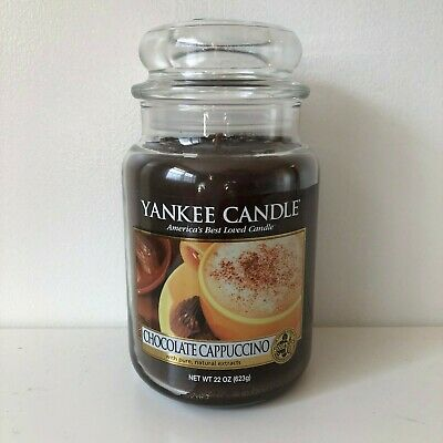 Yankee Candle ~ Chocolate Cappuccino ~ 22oz Large Jar *free Expedited Shipping*