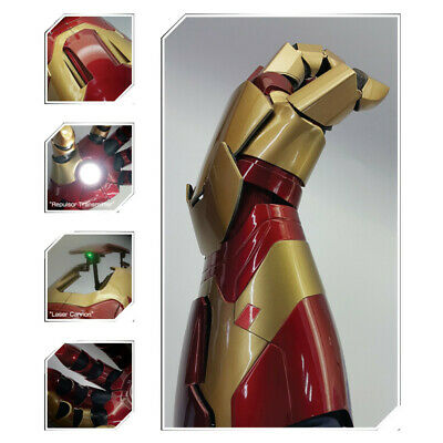 Avengers: Endgame Iron Man Mk42 Laser Led Light Arm Gloves Wearable Cosplay Prop