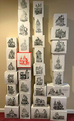 Dept 56 North Pole Series / Bundle Of 33 Lighted Buildings & 24 Accessories