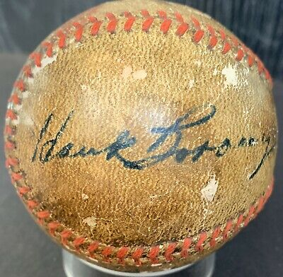 Vintage 1945 Hank Borowy Dec.04 Psa/dna Ny Yankee Chicago Cubs  Signed Baseball