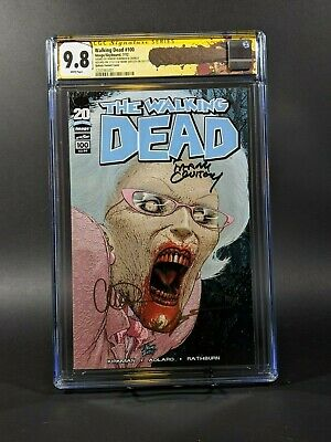 Walking Dead #100 Quitely Variant **cgc 9.8** Signed By Kirkman-quitely- Adlard