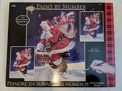 Plaid Paint By Numbers 21698 - Visit From Santa .50.8 X 40.6cm (20 X 16 In) Nos