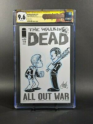 Walking Dead #115 ~variant Cover L~ (cgc 9.8) Signed & Sketch Chris Giarrusso