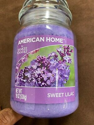 1 American Home By Yankee Candle 19 Oz Sweet Lilac 1 Wick Glass Jar Candle