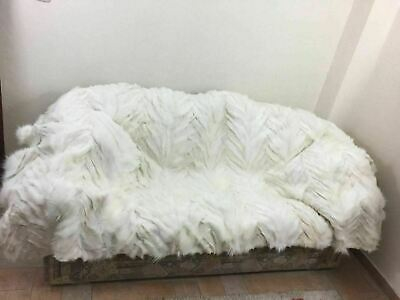 Brand New White Fox Fur Blanket  Available In Throw Twin Queen Or King Size