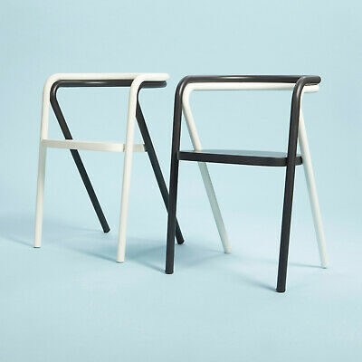Prototype Of Cappellini Chair, Steel Tubes Plywood Seat, Set Of Two, Black