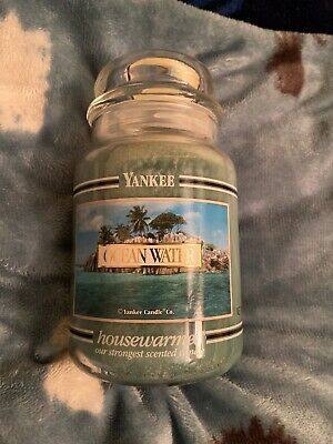 Yankee Candle Ocean Water 22 Oz Jar Candle Black Band (retired)