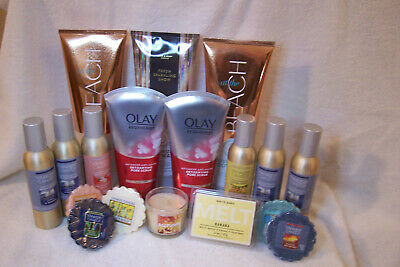 Lot Of Bath & Body Works Body Wash, Olay Cleansers, Yankee Candle Room Sprays