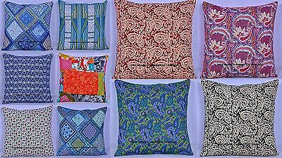 100 Pc Wholesale Lot Quilted Cushion Cover Indian Cotton Throw Sofa Case Decor
