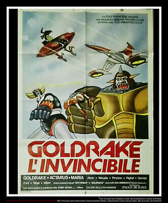 "Goldorak Invincible 39"" X 55"" Italian Two Sheet Movie Poster Original 1979"