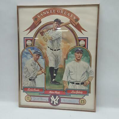 """Dick Perez Limited Edition Print """"yankee Greats"""" #81/1000 (he2024914)"""
