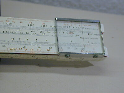 Vintage Nestler Slide Rule Mecanica Nr.0260 In Leather Pouch