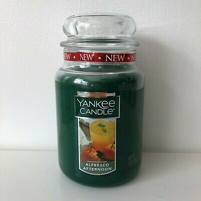 Yankee Candle ~ Alfresco Afternoon ~ 22oz Large Jar *free Expedited Shipping*