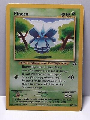 Pineco 61/75 Neo Discovery Pokemon Common LP Please See Pictures