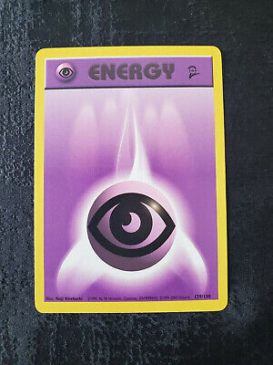 Psychic Energy Pokemon Card Base Set 2 2nd Base Set 129/130 Common