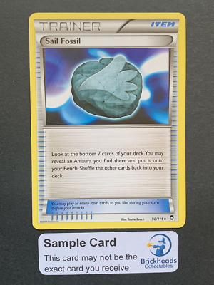 Sail Fossil 98/111 Trainer | XY: Furious Fists | Pokemon Card