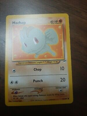 Pokemon Neo Destiny Machop Common (73/105) (EXC/NM)