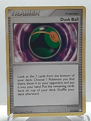 Dusk Ball 110/123 Pokemon Mysterious Treasures Trainer Damaged Used See Pictures