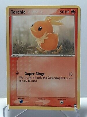 Torchic 67/108 Pokemon EX Power Keepers Fire Common Damaged Used See Pictures