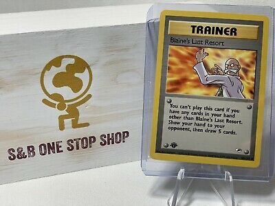 Blaine's Last Resort 105/132 (1st Edition) - Gym Heroes - Pokemon TCG 2000 WOTC