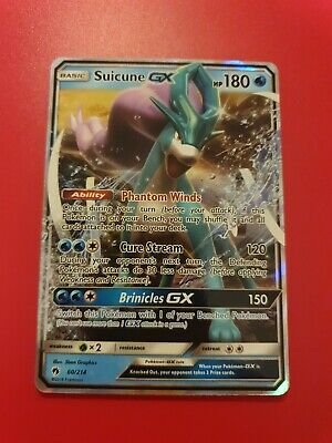 Pokemon Cards TCG Sun and Moon Lost Thunder Suicune GX 60/214