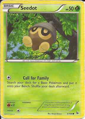 2014 Common Pokemon Card - Flashfire Seedot 5/106 - NM
