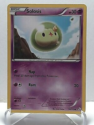 Solosis 74/113 Pokemon Legendary Treasures Common Damaged Used See Pictures