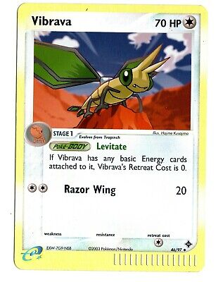 NM Vibrava 46/97 Reverse HOLO EX Dragon Pokemon Card