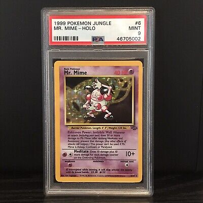 1999 Pokemon Jungle Holo Mr. Mime #6 PSA 9 Mint