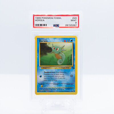Pokemon *PSA 9 MINT* Horsea Unlimited Fossil WOTC - 49/62