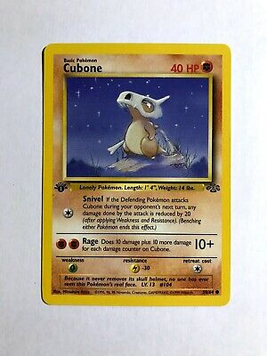 Cubone 1st Edition Jungle 50/64 Pokemon Card Near Mint