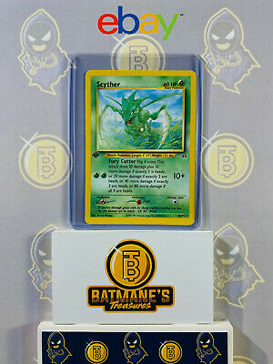 Scyther 46/75 1st Edition LP Played Neo Discovery Non-Holo Pokemon Card