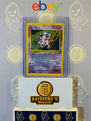 Mr. Mime 6/64 LP Played Jungle Set 1999 Holofoil Rare Holo Pokemon Card