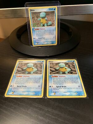 2005 Pokemon Ditto (Squirtle) Ex Delta Species 40/113 x1 NM and 64/113 X2 NM