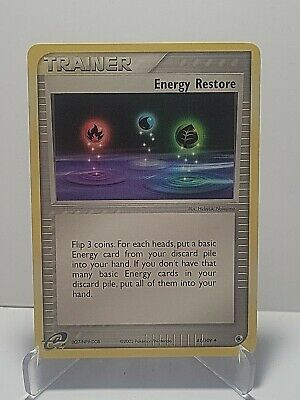 Energy Restore 81/109 Pokemon EX Ruby & Sapphire Uncommon LP Used See Pictures