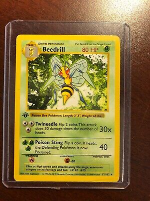 Beedrill First 1st Edition Shadowless Base Set Wizards WOTC 1999 Pokemon