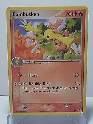 Combusken 27/109 Pokemon EX Ruby & Sapphire Fire Uncommon LP Used See Pictures